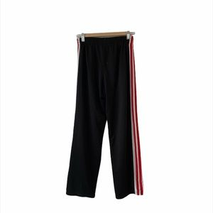 RED WHITE STRIPED CLASSIC TRACK PANTS
